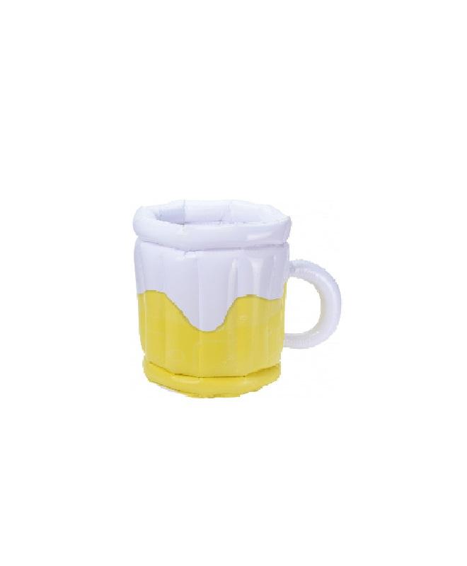 bekerhouder-bierglas-geel-wit-30-cm