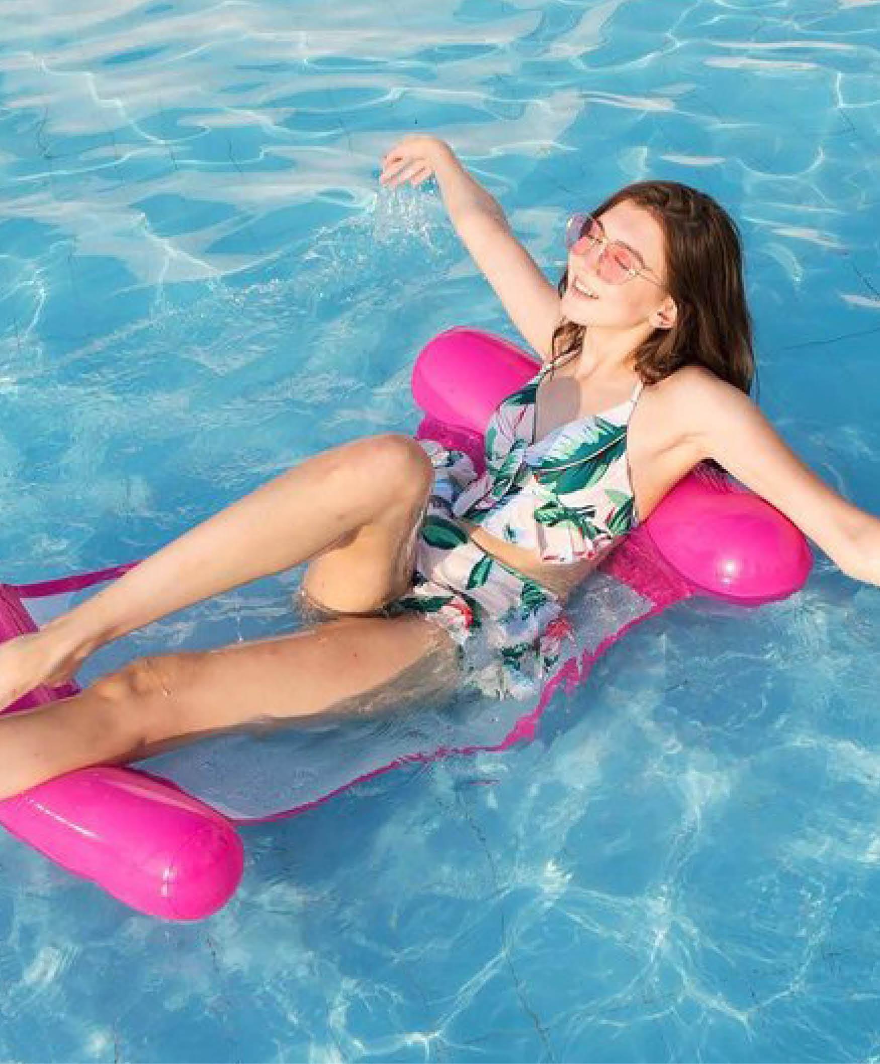 Drijvende hangmat Roze