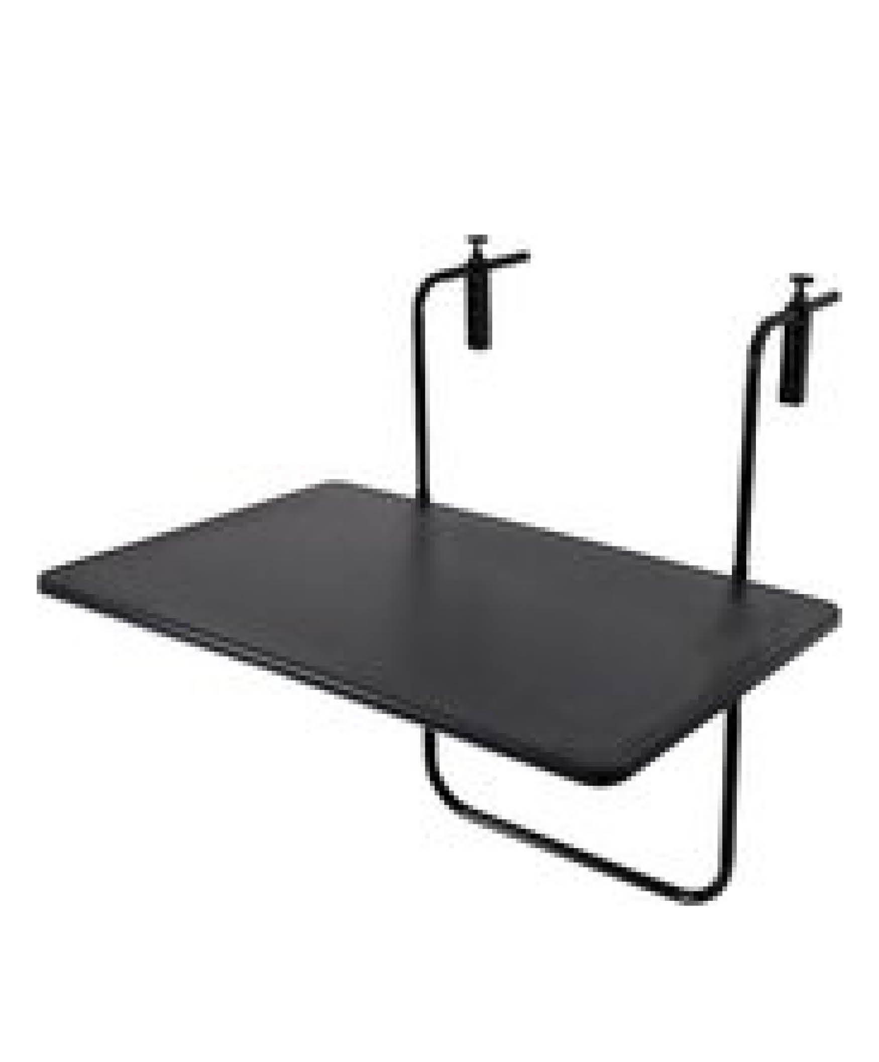 Balkontafel mat zwart 60x40cm